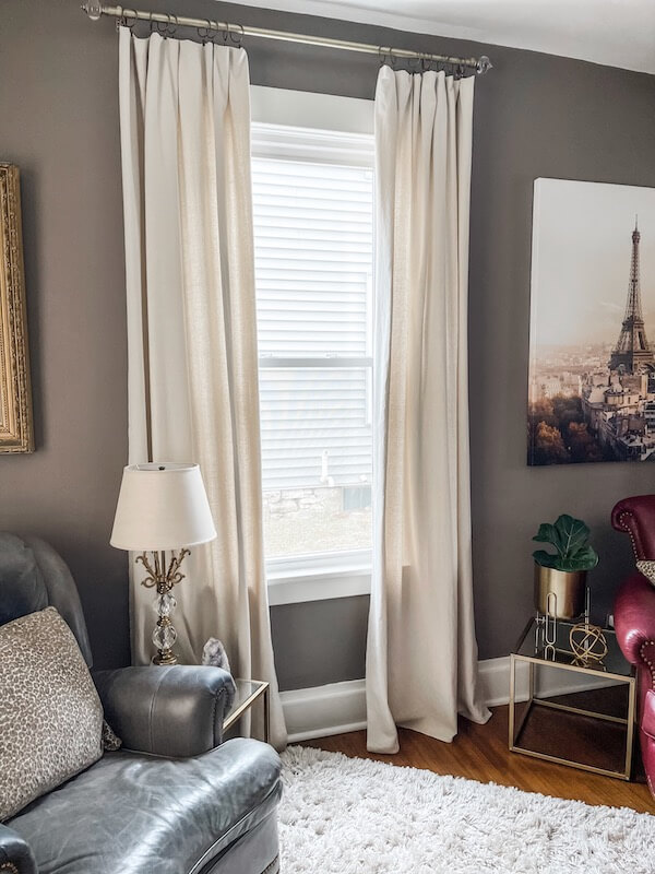 Beautiful diy drop cloth curtains at a fraction of the cost