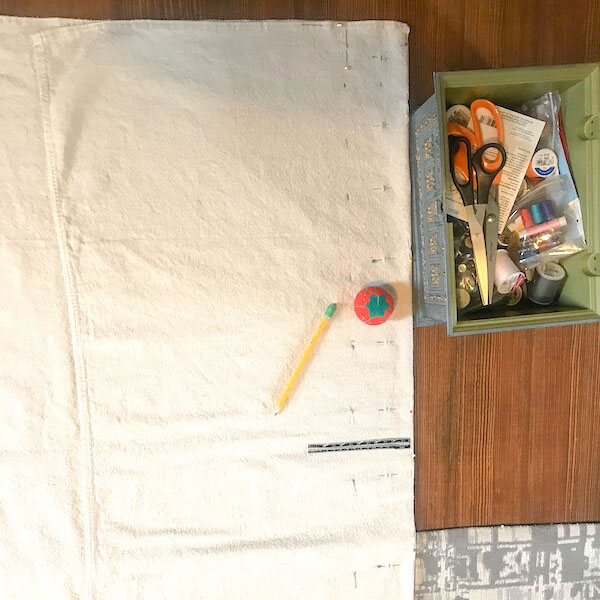 measuring the proper length from drop cloth curtains